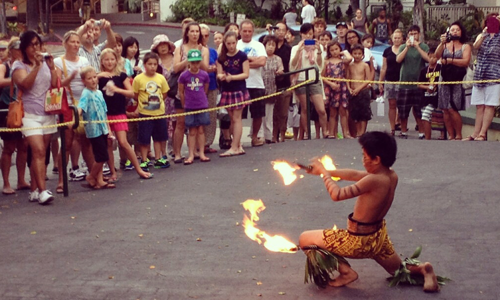fire knife dancers in hawaii